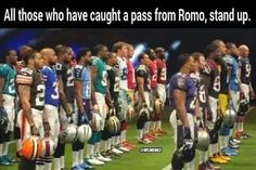 Those who caught a pass from Tony Romo.lol - Funny Sports - - Those who caught a pass from Tony Romo.lol The post Those who caught a pass from Tony Romo.lol appeared first on Gag Dad. Nfl Jokes, Funny Football Memes, Cowboys Memes, Funny Sports Memes, Sports Humor, Football Humor, Dallas Cowboys, Basketball Memes, Houston Texans