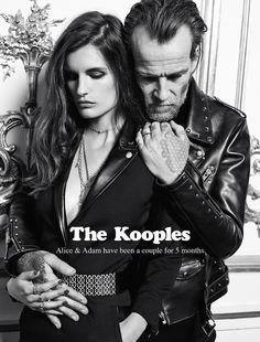 5b94056e6ce Uber Cool Couples Shot In Black and White For The Kooples' Latest Ad  Campaign.