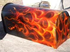 Truefire airbrushed mailbox by mready666