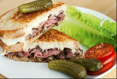 Grilled Steak & Cheese--UseRealButter.com--she inspires me:)