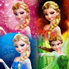 Elsa with 4 different powers