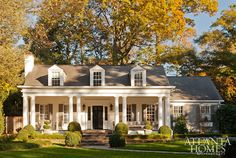 Jackye Lanham interior designer William B. Litchfield architect historic Buckhead Atlanta Georia Colonial Revival cottage renovation home tour Atlanta Homes, House Design, Cottage, House, Southern Cottage, House Exterior, Exterior Design, House Tours, Curb Appeal