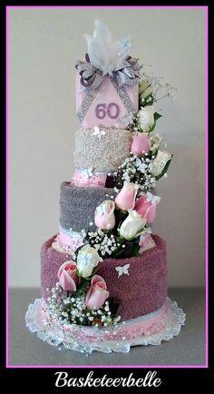 60th wedding anniversary towel cake :D