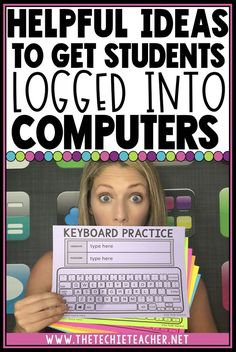 Helpful Ideas to Get Students Logged Into Computers. If your district doesn't utilize Clever badges to automatically sign students into Elementary Computer Lab, Computer Teacher, Computer Class, Computer Laptop, Laptop Computers, Computer Lab Classroom, Online Classroom, Elementary Library, Computer Science