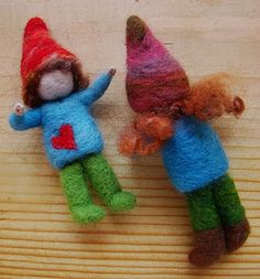 Needle felted wool gnomes tutorials. This is a great tutorial!