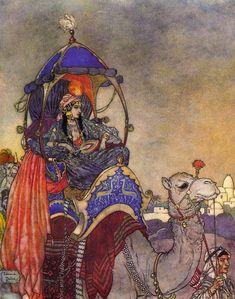 """La Reine de Saba"" ~ Edmund Dulac"