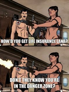 Archer - Lana Kane in the Danger Zone