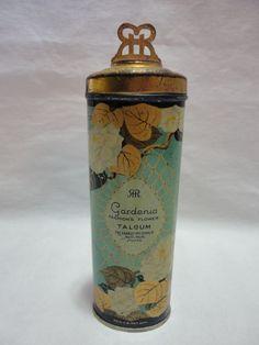 Vintage Talcum Powder Tin Richard Hudnut GARDENIA from parkersplace on Ruby Lane