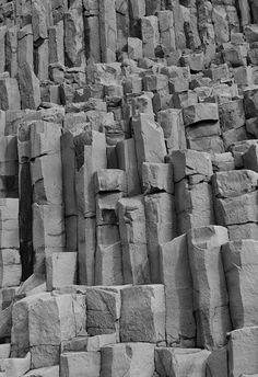 south shore rock formations,.................... columnaer basalt................................... iceland