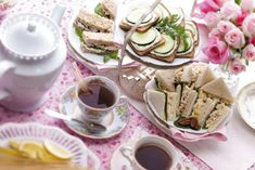 Tea Party Recipes: An elegant afternoon tea is a delightfully feminine way to celebrate a shower or girlfriend get-together