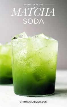 A refreshing matcha soda for all green tea lovers. Fizzy water meets matcha syrup to create this bubbly tea drink. Cocktails, Cocktail Drinks, Alcoholic Drinks, Beverages, Green Tea Cocktail, Drinks Alcohol, Smoothies, Smoothie Recipes, Kombucha