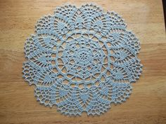 Peony Doily Free Pattern -size 10 thread, 1.75 mm hook, about 10 in diameter