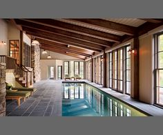 Indoor pool ~ Architect Paul F. Shurtleff, Interior Designer Thad Hayes