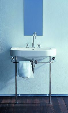 duravit happy d2 basin on console legs - Google Search                                                                                                                                                                                 More