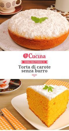 #Torta di #carote senza burro Sweet Recipes, Cake Recipes, Dessert Recipes, Desserts, Tortilla Sana, Sweet Light, Tortillas Veganas, Torte Cake, Healthy Sweets