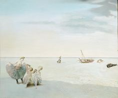 """thatsbutterbaby: """" Salvador Dali Forgotten Horizon 1936 Dalí's disturbing, imaginary landscapes often contain references to his own life. Forgotten Horizon is a typical example, drawing upon memories. Wassily Kandinsky, Salvador Dali Art, At Madrid, Dali Paintings, Dancing Figures, Modern Surrealism, Tate Gallery, Post Impressionism, Illustration"""