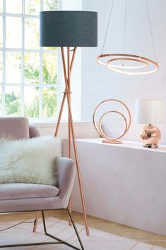 Next Tripod Floor Lamp Copper - Tripod Floor Lamps - Ideas of Tripod Floor Lamps Copper Floor Lamp, Copper Lamps, Black Floor Lamp, Industrial Lamps, Tall Floor Lamps, Tall Lamps, Diy Floor Lamp, Contemporary Floor Lamps, Modern Floor Lamps