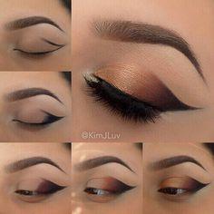 10 wunderschöne Augen Make-up Tutorials! - for me - Make-up Eye Makeup Steps, Smokey Eye Makeup, Eyeshadow Makeup, Eyeshadow Palette, Eyelashes Makeup, Winged Eyeliner, Silver Eyeliner, Orange Eyeshadow, Fake Eyelashes