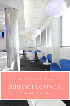 Airport lounge access is usually reserved to those who buy expensive tickets like First Class and Business Class. Or who have an airline lounge membership. But with these easy tips and tricks, you can get into every airport lounge, even if you're flying coach or on using airline miles.   airport lounge   how to get airport lounge access   travel hacks   TravelingWellForLess.com