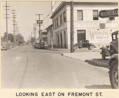 Wonder Bread has been available to generations of Portlanders as this 1937 advertisement on N. Vancouver Avenue attests. The view is east on Fremont Street.  Love the old ads!