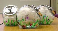 Silent Auction Class Project Ideas | Mrs. Volz First Grade Class * 'Fishing for a Treat' Thumbprint Cookie ...