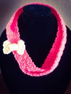 Children's Crochet Infinity Scarf in Pink with by TheFancyStitcher