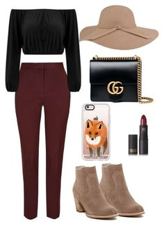 """""""fall vibes"""" by marthepoes on Polyvore featuring mode, Gucci, Lipstick Queen, Dolce Vita en Casetify"""