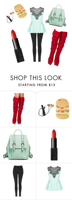 """Burger Beauty"" by lydiaviolet ❤ liked on Polyvore featuring Forever 21, Merona, NARS Cosmetics, Topshop and City Chic"