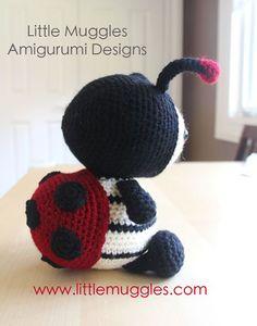 Dottie the ladybug amigurumi by Little Muggles