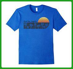 Mens Retro Shoal Bay, Anguilla Vintage Sunset Beach T-shirt 3XL Royal Blue - Retro shirts (*Amazon Partner-Link)