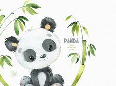 Little animals watercolor clipart watercolor bear Illustration Mignonne, Cute Illustration, Animal Drawings, Cute Drawings, Animals Watercolor, Watercolor Deer, Panda Mignon, Baby Animals, Cute Animals