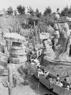 Mine Train Through Nature's Wonderland opened in 1960 and featured a variety of animals, including bears and beavers, in a variety of desert environments.
