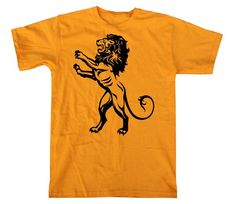 Fierce Royal Lion Graphic Tee Gold T Shirt in S, M, L, XL, XXL