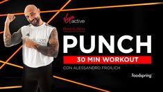 Hai mai provato l' allenamento punch? È un workout total body che combina tecniche di boxe a esercizi funzionali e ti permette di allenare tutto il corpo e dare sfogo alle tue energie. ⚡ 30 Min Workout, Revolution, Stress, Baseball Cards, Boxing, Home, Psychological Stress, 30 Minute Workout