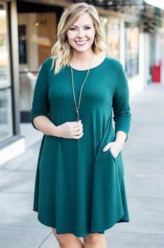Practice Make Perfect Dress, Hunter Green