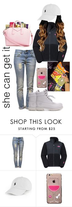 """she can get it"" by highofflay11 ❤ liked on Polyvore featuring Anine Bing, Timberland, The North Face, Ralph Lauren and Junk Food Clothing"