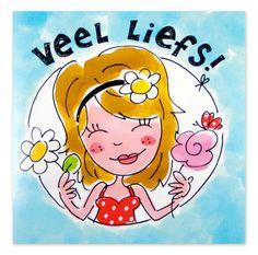 Blond Amsterdam Liefs www.hipenstipkaarten.nl