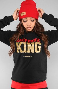 Empire (Women's Black/Gold Crewneck Sweatshirt) | Shirts, Empire ...