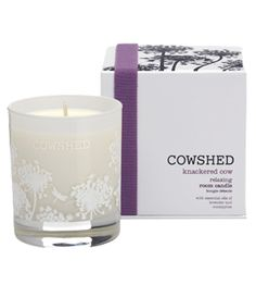 Knackered Cow Room Candle - http://www.cowshedonline.com/candles/knackered_cow_relaxing_room_candle-c84629p84713.html