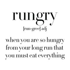 anything over 10 miles and I'm always starving afterwards!!!