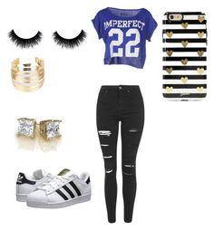 """""""Untitled #1"""" by williamsbreona33 ❤ liked on Polyvore featuring Topshop, !M?ERFECT, adidas Originals, WithChic and Sonix"""