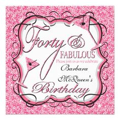40Th Birthday Invitations - You Can Even Make Your Personal ...