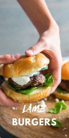 Thick and juicy lamb burgers are mixed with an unusual mix of flavors that enhance and complement these burgers.  Fresh toppings and a creamy sauce make these lamb burgers unforgettable!