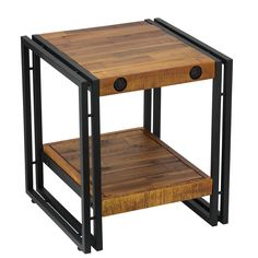 Cortesi Home Penni Reclaimed Wood and End Table