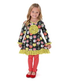 Look at this Candy Apple Erica Knit Tunic & Leggings - Toddler & Girls on #zulily today!