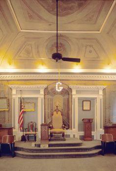 Lodge room, St. John's Masonic Lodge and Theater, New Bern, North Carolina Masonic Temple, Masonic Lodge, Black Ops, Illuminati, Masonic Store, Masonic Order, New Bern, Grand Lodge, Masonic Symbols