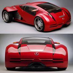 One of the three custom-built Lexus 2054 concept cars