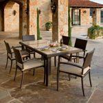Portofino Comfort™ Espresso & Beige 7-Piece Dining Set