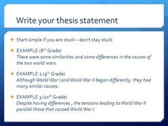 How To Write An Essay Thesis Statement
