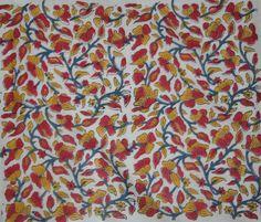 10 yard Hand Block Print Fabric Indian 100% Cotton Natural hand print fabric #Handmade
